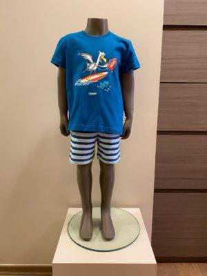 Woody jongenspyjama zeemeeuw
